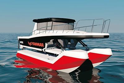 Лодка с гидравлической подвеской
